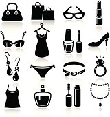 Collection of Ladies Shopping Icons.