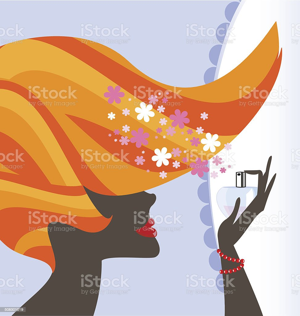lady and perfume royalty-free lady and perfume stock vector art & more images of abstract
