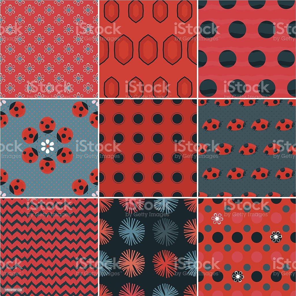 Lady Bug Patterns royalty-free lady bug patterns stock vector art & more images of abstract