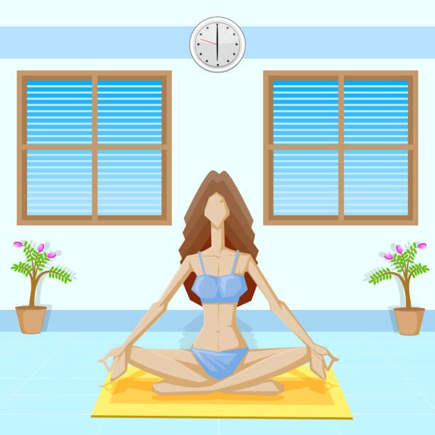 lady yoga - mantra stock-grafiken, -clipart, -cartoons und -symbole