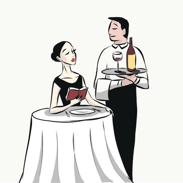 Royalty Free Asian Waiter Serving Food Clip Art, Vector ...
