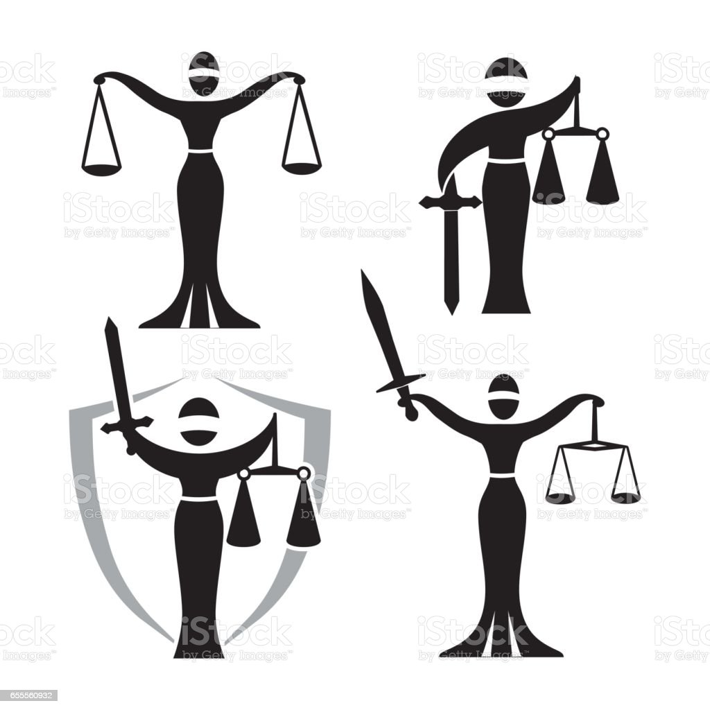 lady justice black set stock vector art amp more images of