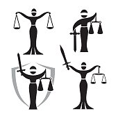 lady justice black set