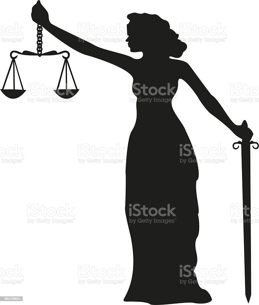 Lady Justice Silhouette royalty-free lady justice silhouette stock vector art & more images of adult