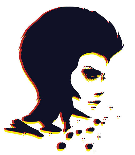 lady porträt - punk stock-grafiken, -clipart, -cartoons und -symbole