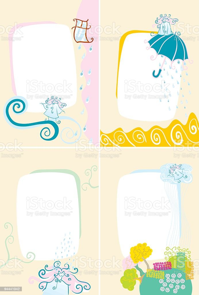 Lady Rain Pages royalty-free lady rain pages stock vector art & more images of adult