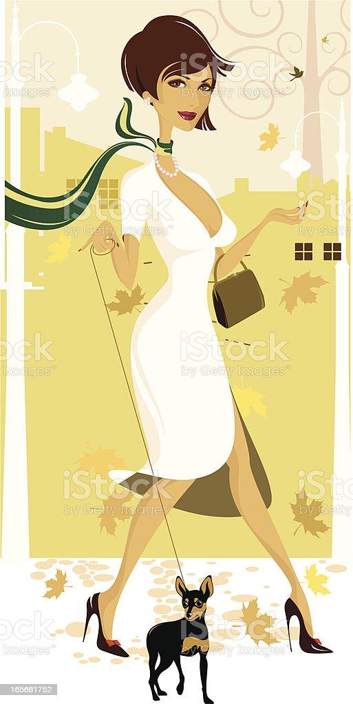 Lady psa. - Grafika wektorowa royalty-free (Dorosły)