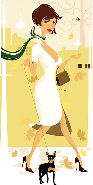 Lady psa. – artystyczna grafika wektorowa