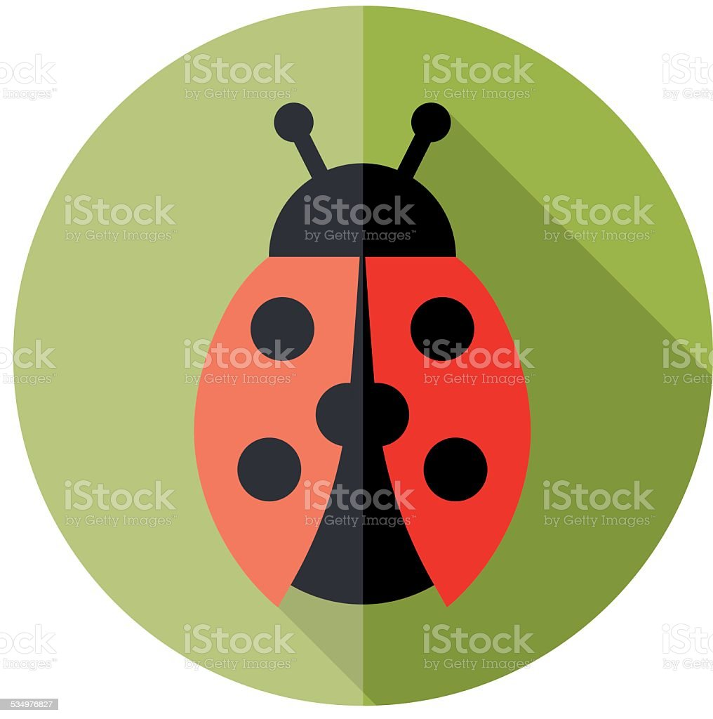 ladybird flat icon vector art illustration