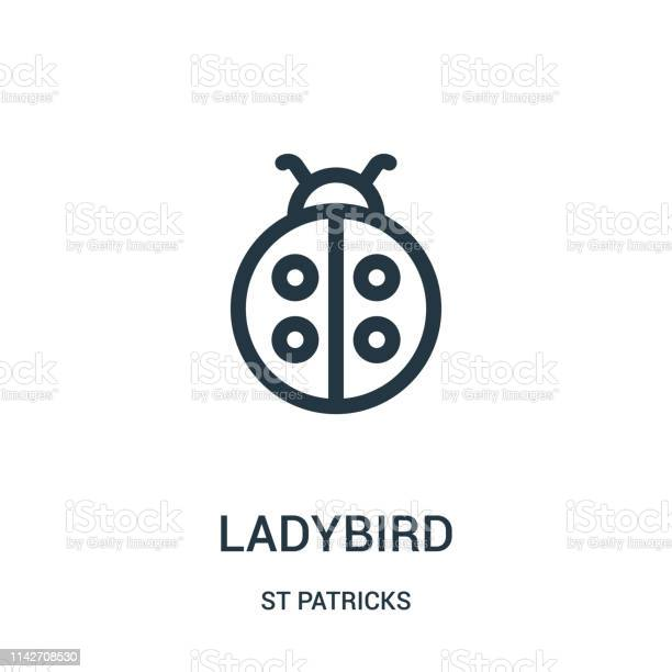 Ladybird icon vector from st patricks collection thin line ladybird vector id1142708530?b=1&k=6&m=1142708530&s=612x612&h=l8gzl5j5ej2zsc3viuwcvhqmc5wrxa531fm7gzljhy4=