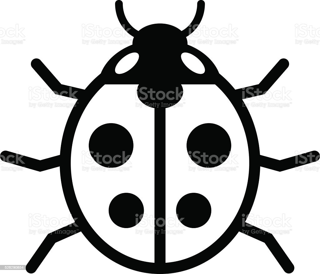 Ladybird icon vector art illustration