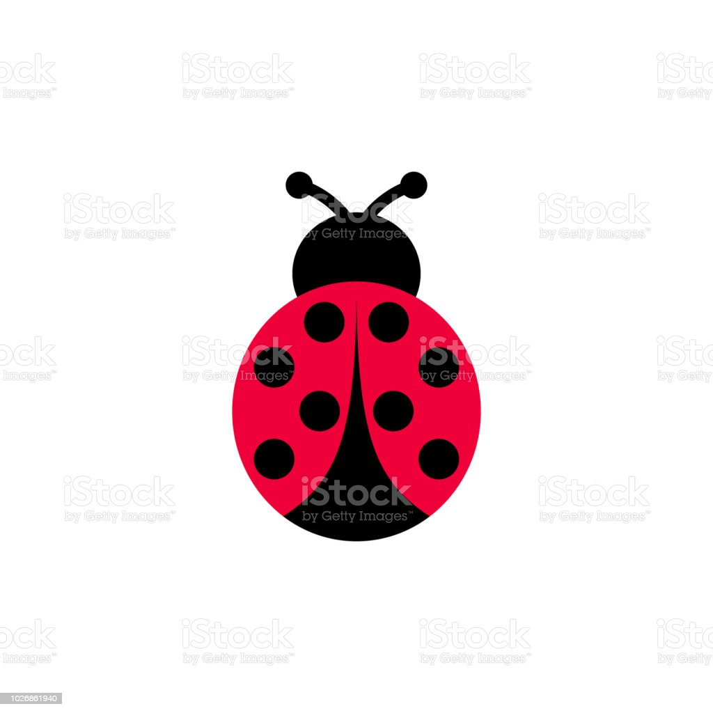 A Cartoon Ladybug ladybird vector cartoon icon ladybug symmetrical clipart