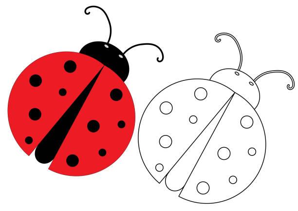 Royalty Free Cute Ladybug Coloring Pages Cartoon Clip Art, Vector ...