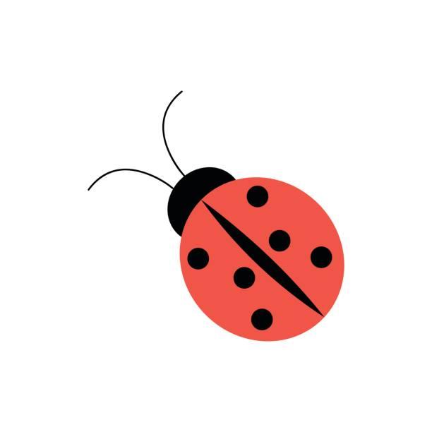 Ladybug icon in flat style – artystyczna grafika wektorowa