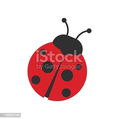 Ladybug icon isolated on white background. Vector illustration. Eps 10.