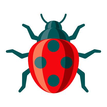 Ladybug Icon on Transparent Background
