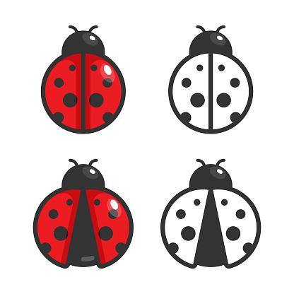 Ladybug Icon Vector Design.