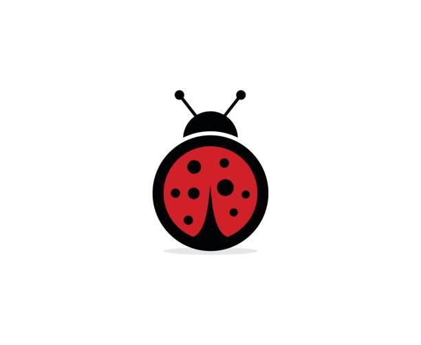 Ladybug icon – artystyczna grafika wektorowa