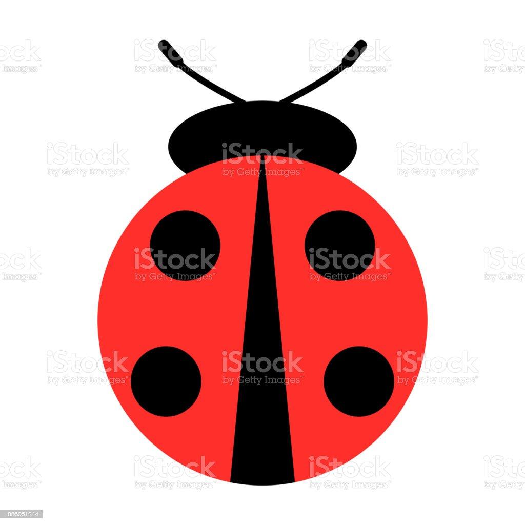 ladybug icon vector