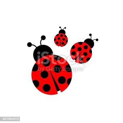 Ladybug icon vector illustration
