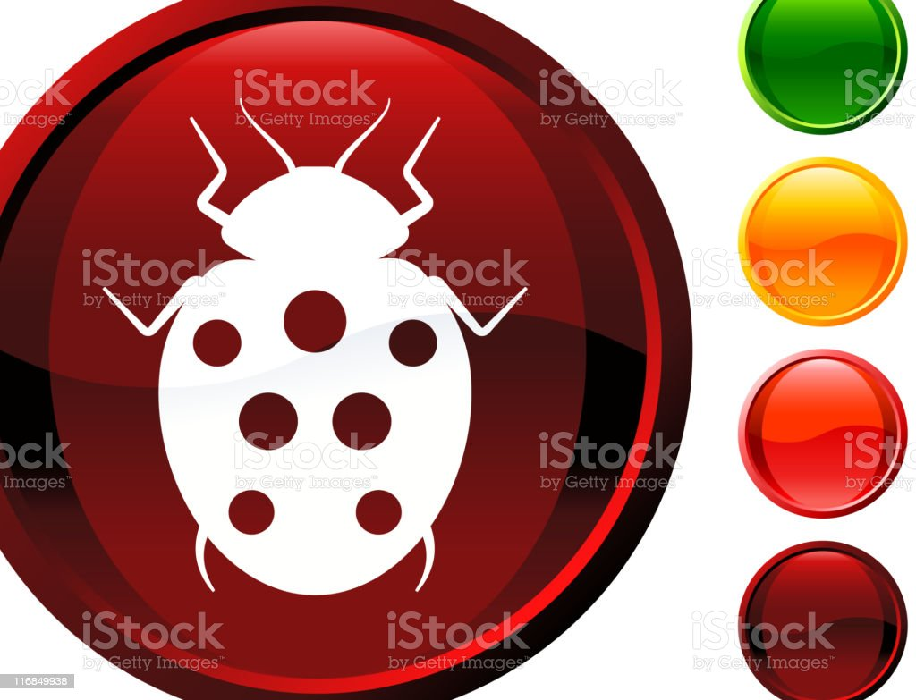 ladybug internet royalty free vector art royalty-free stock vector art