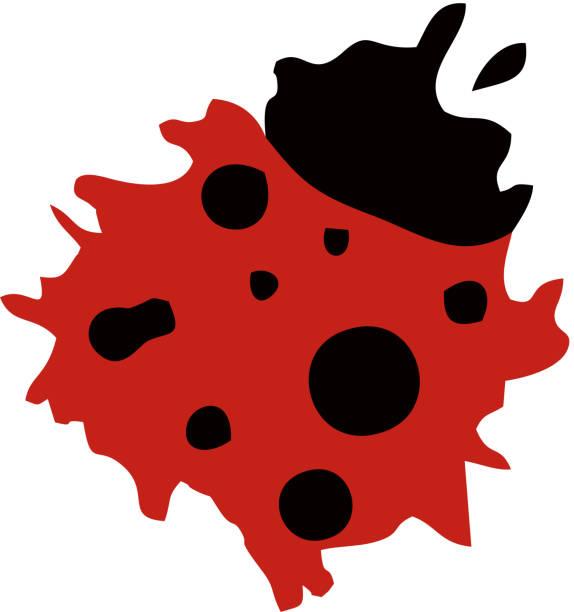 Ladybug logo abstract vector art illustration
