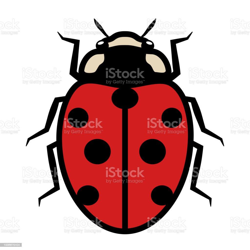 Coccinelle Symbole coccinelle le logo symbole icône signe avec sept points noirs