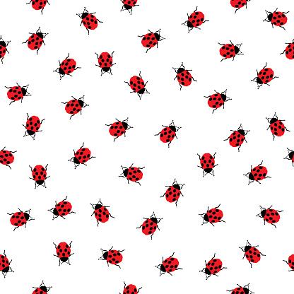 Ladybugs Seamless Pattern 2