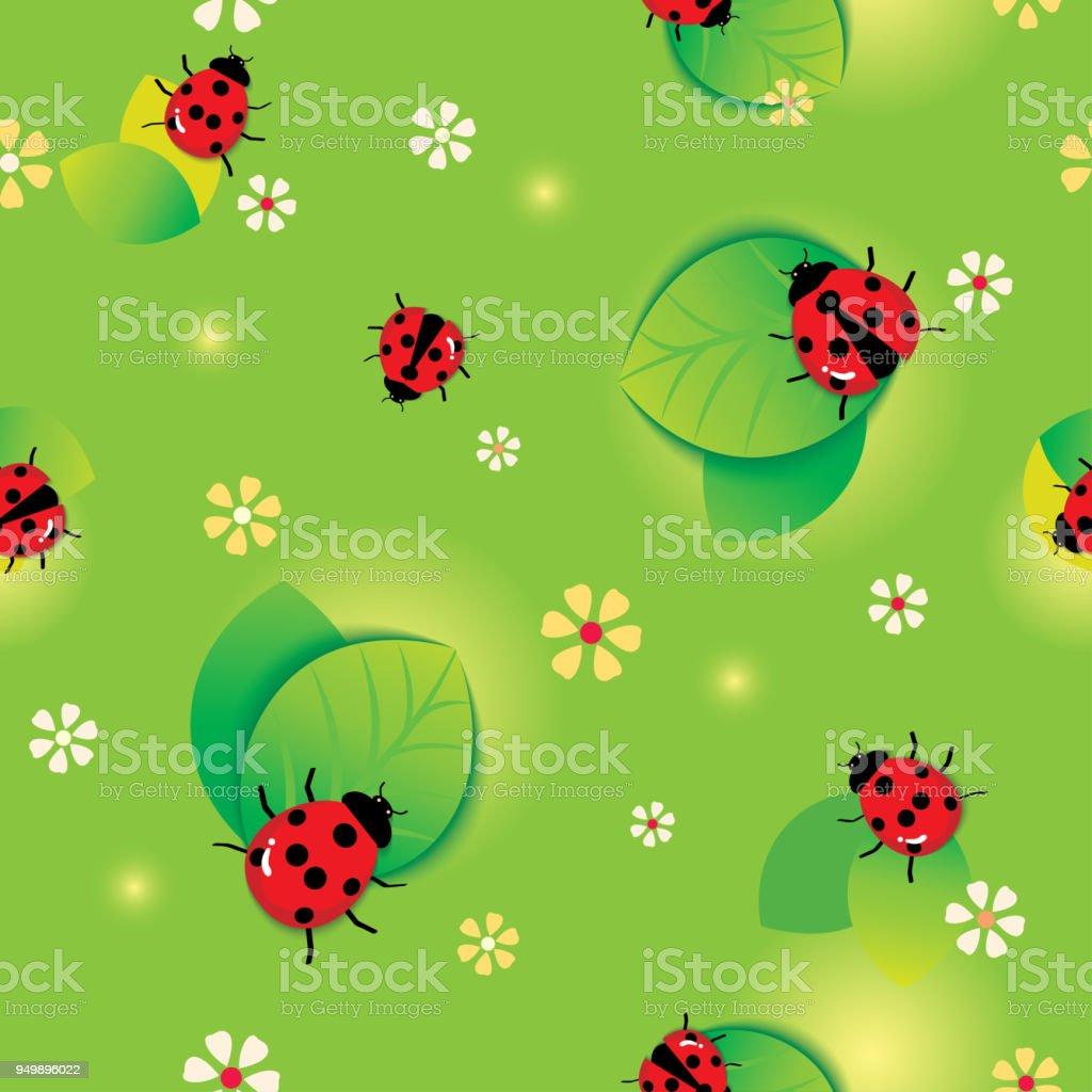 ladybugs seamless pattern