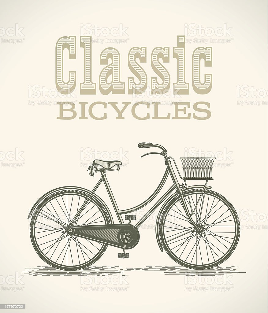 Lady's classic bicycle royalty-free ladys classic bicycle stock vector art & more images of adult