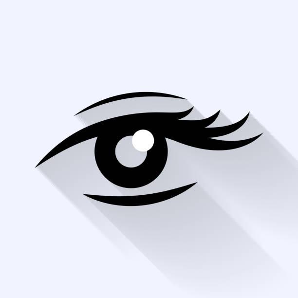 lady's eye flat icon. - 睫毛 幅插畫檔、美工圖案、卡通及圖標