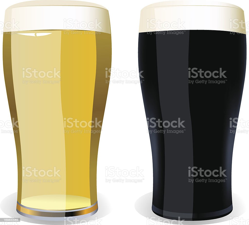 Lager and Stout royalty-free stock vector art