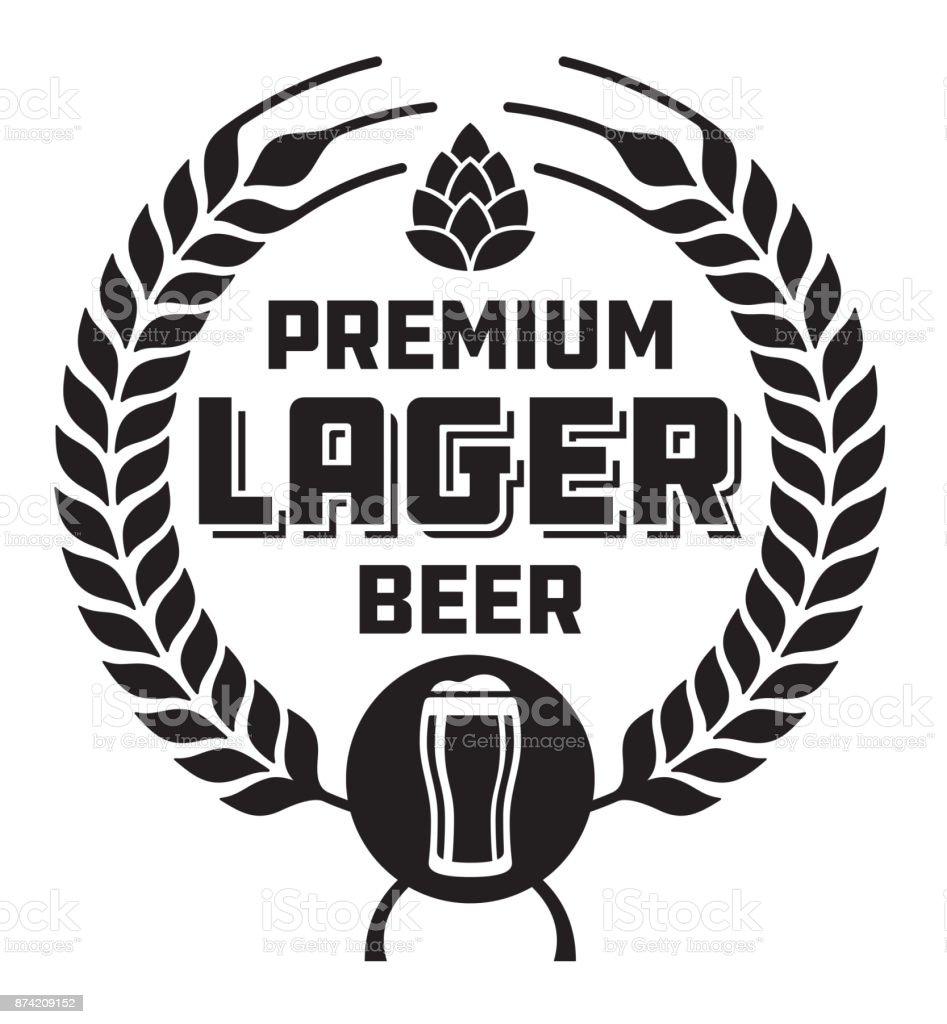 Lager Beer Badge or Label. vector art illustration