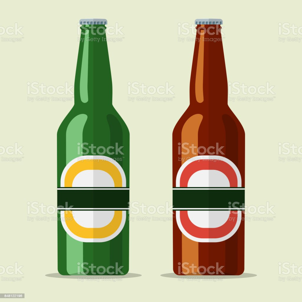 lager bottle beer icon vector art illustration