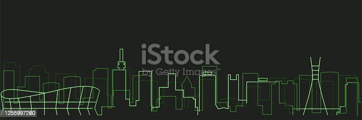 istock Lagos Futurist Technology Light Trace Skyline 1255997260
