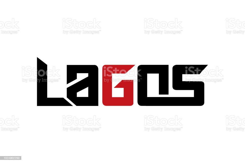Vecteur de conception de typographie Lagos, t-shirt, affiches et autres utilisations - Illustration vectorielle