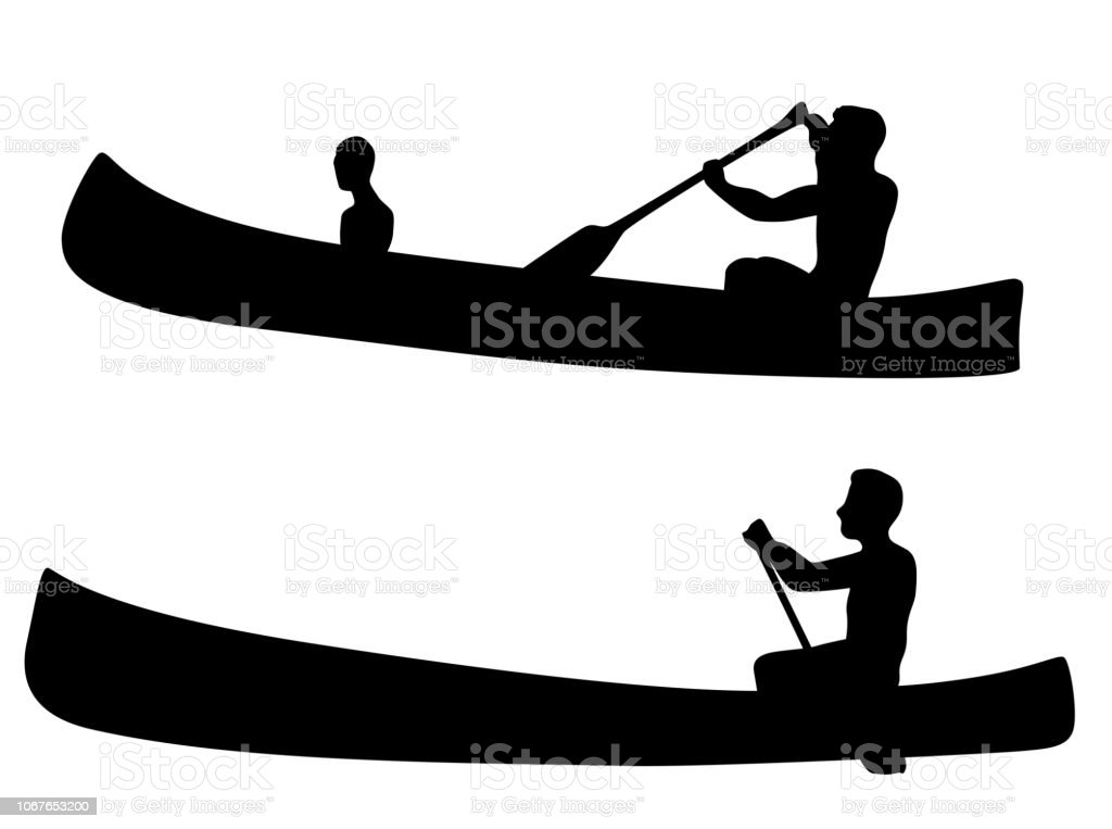 Man paddling in his canoe