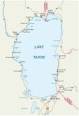 Lake Tahoe vector map