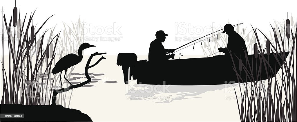 Lake Trout vector art illustration