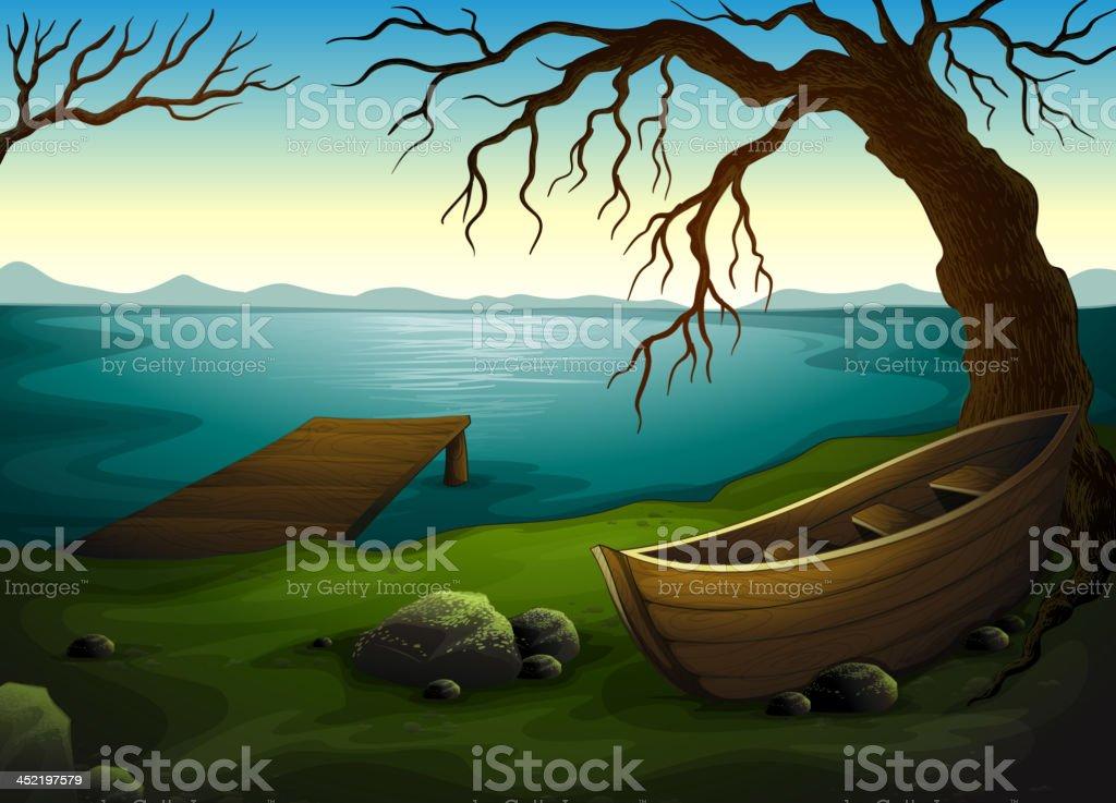 Lake royalty-free stock vector art