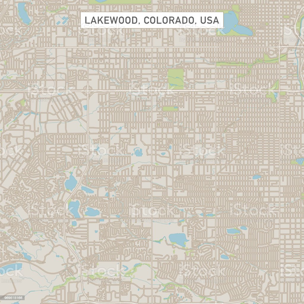 Lakewood Colorado Us City Street Map Stock Vector Art & More Images ...