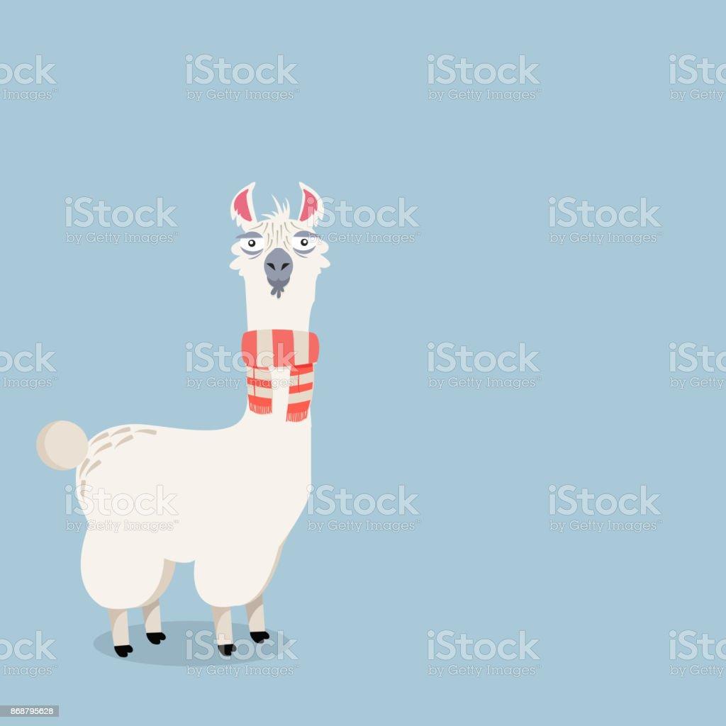 alpaca lama ilustração vetorial - ilustração de arte em vetor