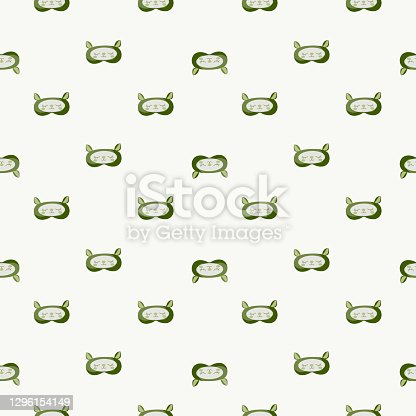 istock Lamb green color geometric seamless pattern on white background. Children graphic design element for different purposes. 1296154149
