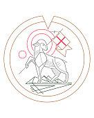 istock Lamb of God symbol illustration 1262154062
