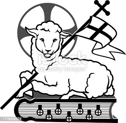 istock Lamb of God Symbol 1178335374