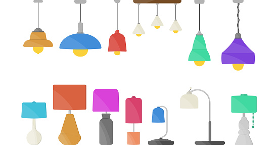Lamp, chandeliers, flashlight.