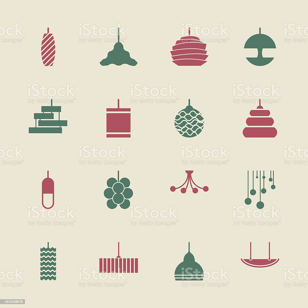 Lamp Design Icons - Color Series | EPS10 royalty-free stock vector art