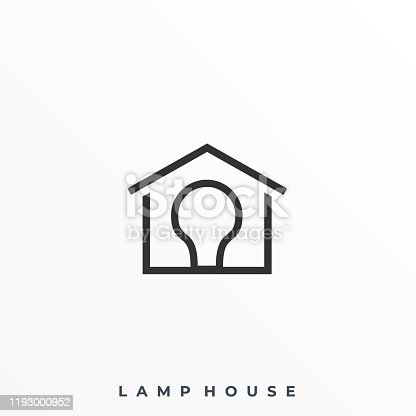 istock Lamp House Illustration Vector Template 1193000952