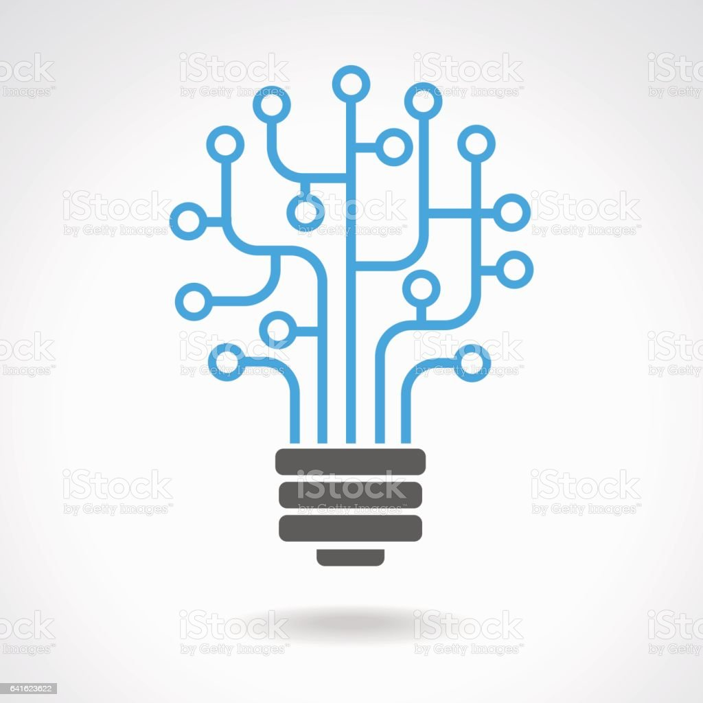 Lamp in the form of a network vector art illustration