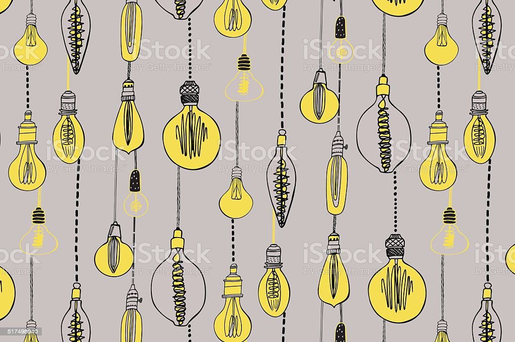 Lampada Lampadine Disegno A Mano Immagini Vettoriali Stock E Altre